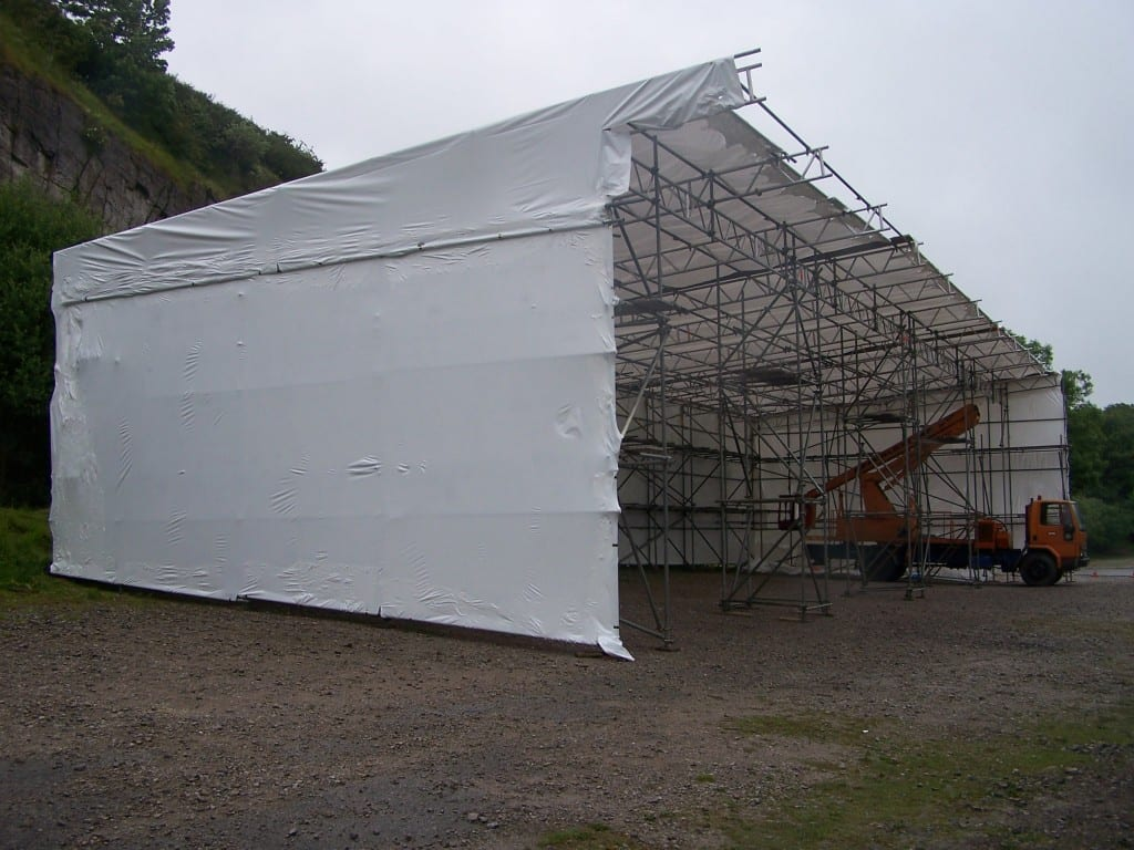 Shrink wrap for work shelters