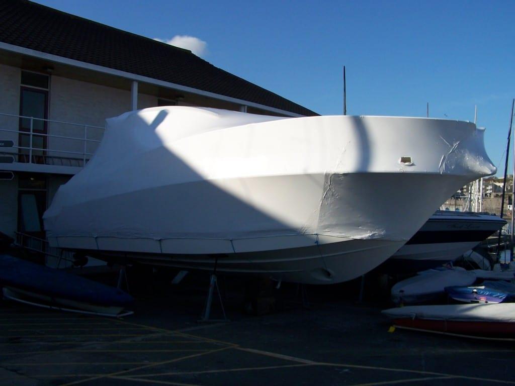 Sports boat shrink wrap