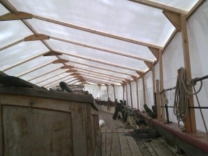 Shrink wrapped boat tents