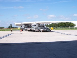 Airbus A380 Superjumbo shrink wrap