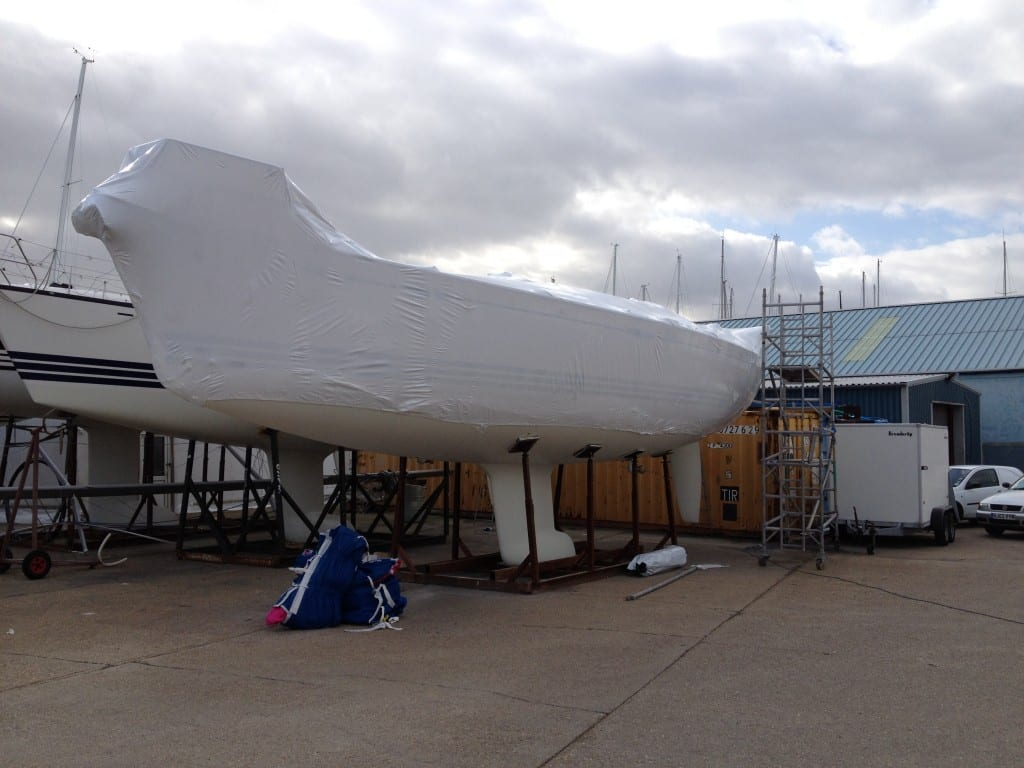 Boat shrink wrap training for X Yachts