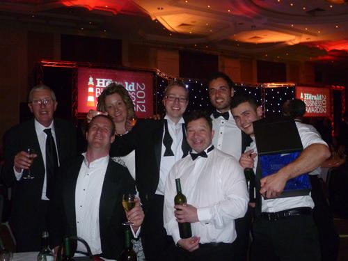 Tufcoat celebrating winning 2012 SBOY award