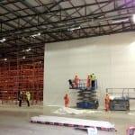 Shrink wrap warehouse partition training