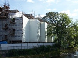 Tufcoat shrink wrap helps to solve Environmental Concerns Within Waterside Construction