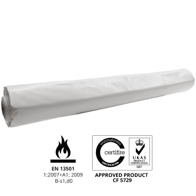BC08 300 micron Flame retardant Scaffold Shrink-wrap