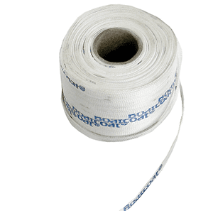 Shrink wrap polywoven strapping