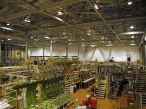 Bombardier Warehouse debris containment