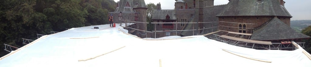 Castell Coch roof restoration project