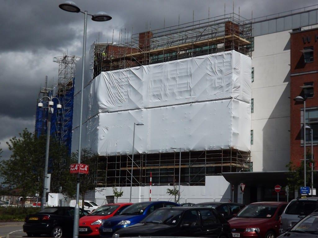 Whiston Hospital Scaffold Shrink Wrap