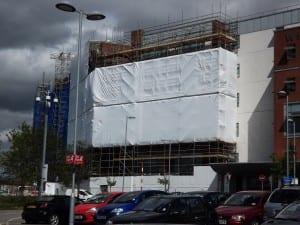 Whiston Hospital Shrink Wrapped