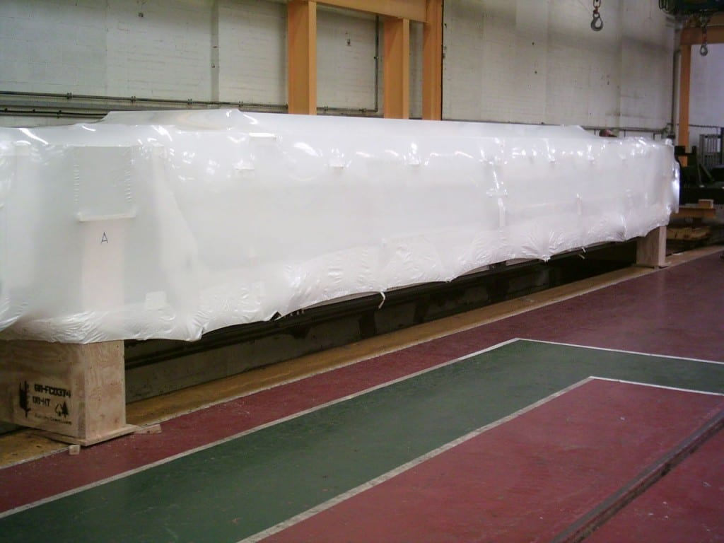 Train carriage shrink wrap covers