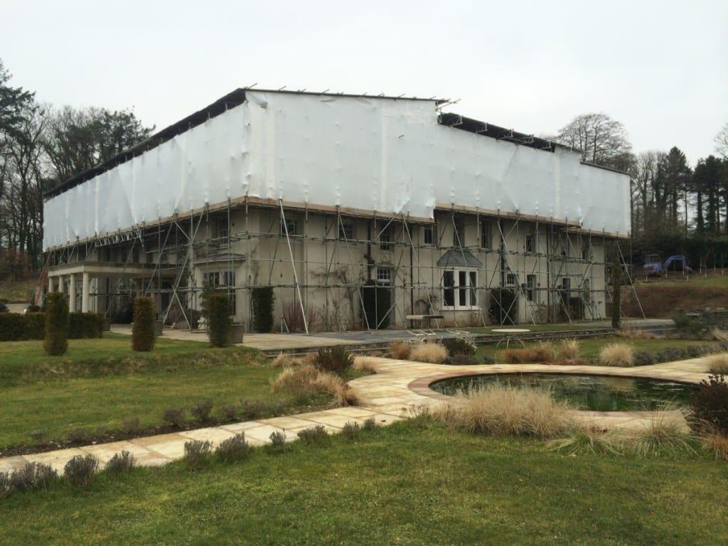 Bittescombe Manor Scaffold Shrink Wrap