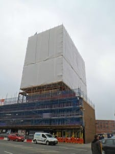 Brunswick House scaffold encapsulation