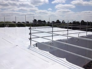 Shrink wrap temporary roofs
