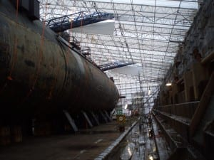HMS Valiant Scaffold Shrink Wrap