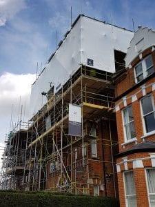 Fine Renovate London Shrink-wrap project