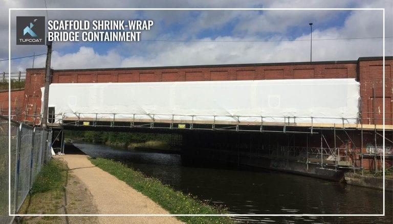 Shrink-wrap covering bridge during renovation works
