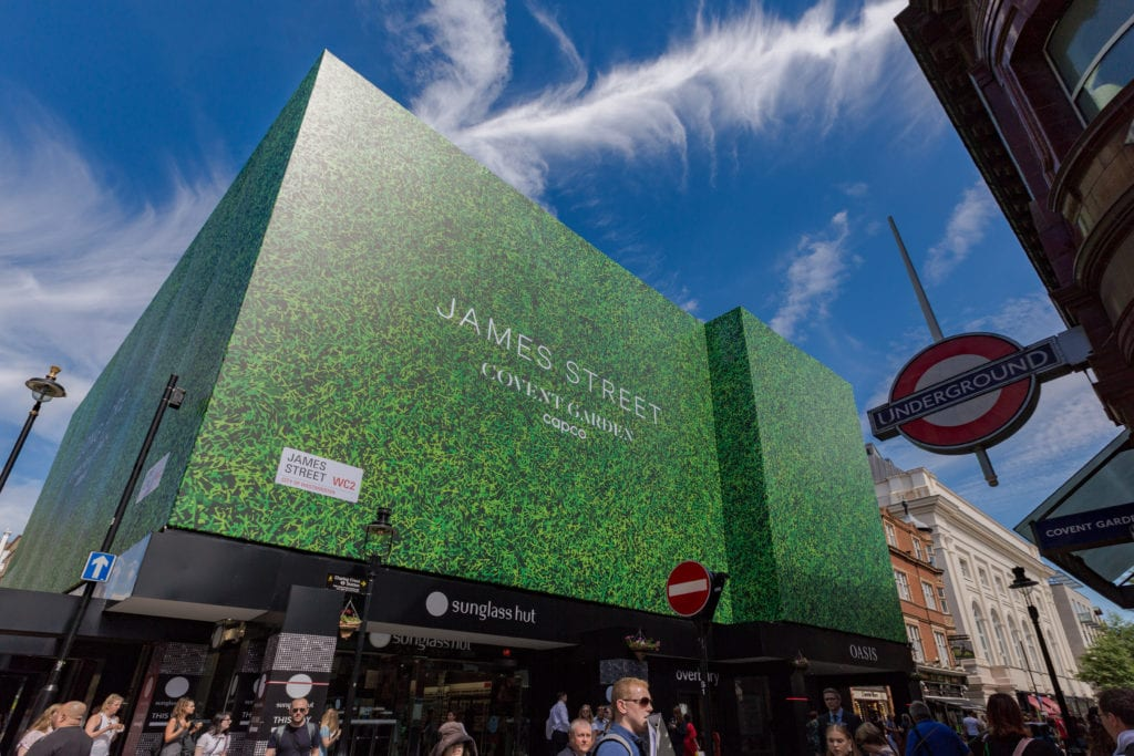 Regal House Mesh Building Wrap Covent Garden