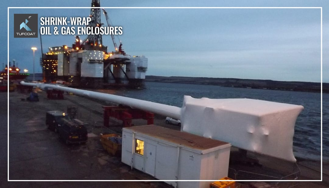 Shrink-wrapped 120-m long caisson for the Andrew platform