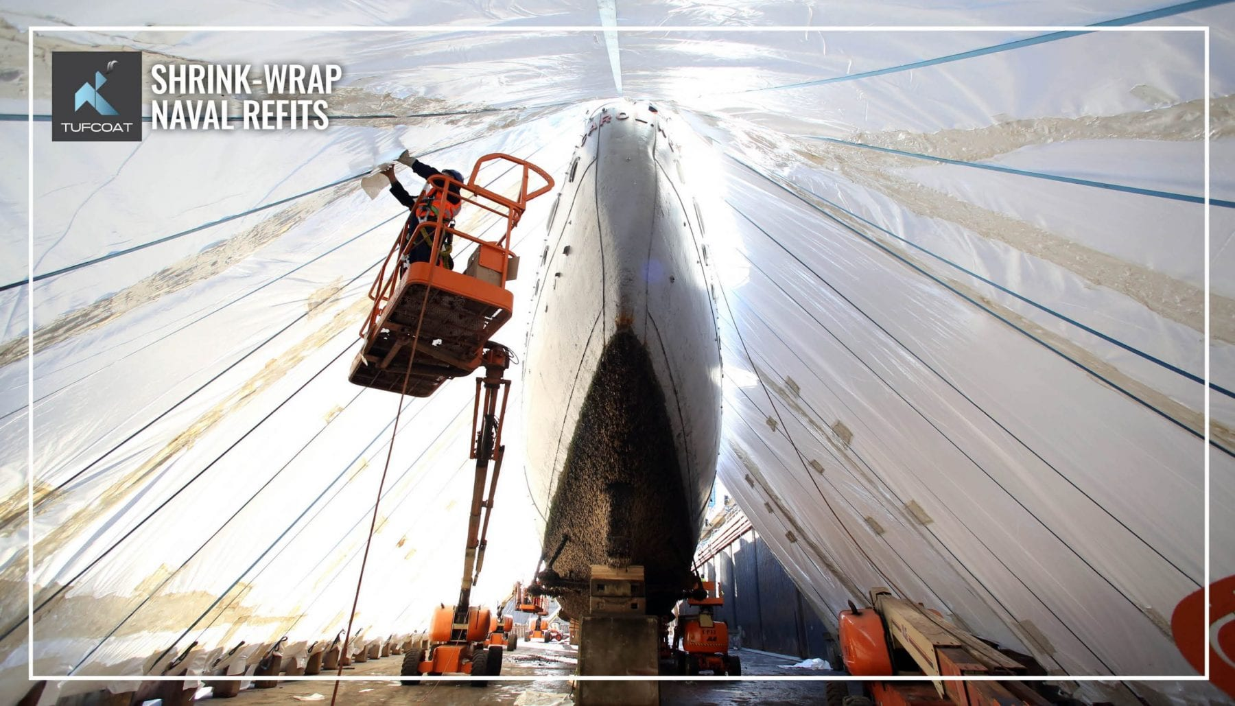 Tufcoat shrink-wrap naval refits HMS Caroline