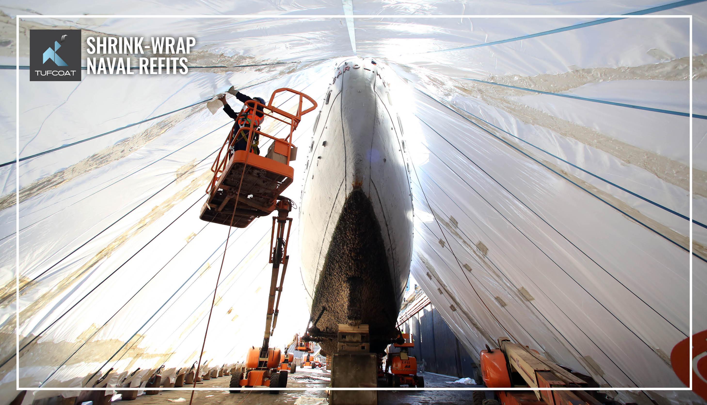 Tufcoat shrink-wrap naval refits HMS Caroline