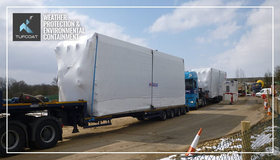 Heat exchanger units shrink wrapped for transport protection