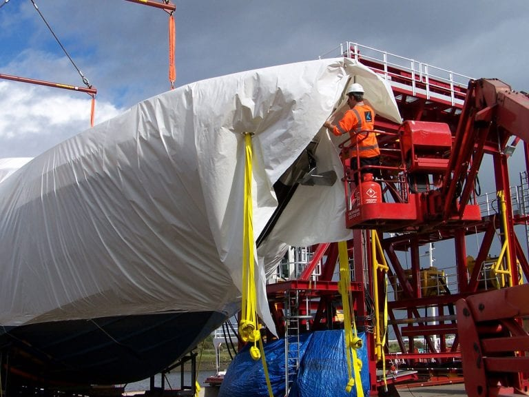 How to shrink-wrap a boat