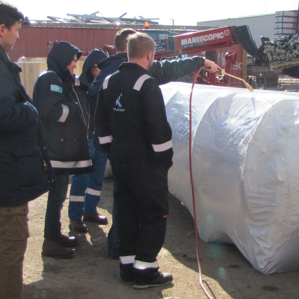 Shrink-wrap training for industrial assets